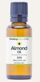 healing natural oils almond oil