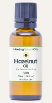 healing natural oils hazelnut oil