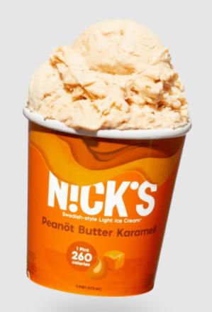 nick ice cream peanut butter caramel