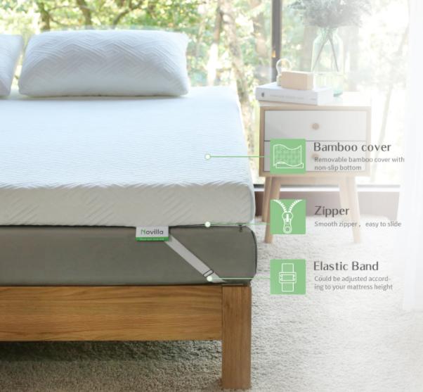 novilla 4 inch mattress topper