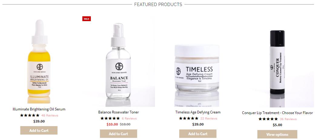 skin and senses coupon